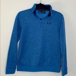 Under Armour blue 1/4 zip boys sweatshirt Y L